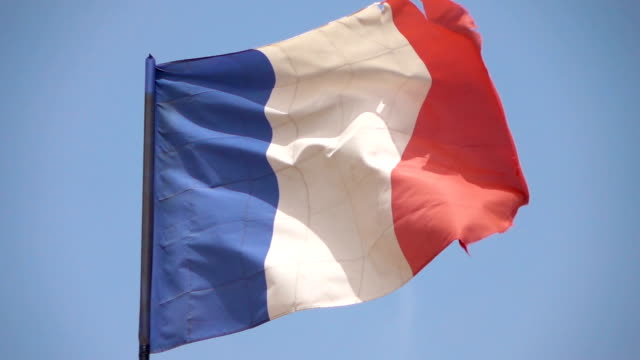 two videos of french flag in real slow motion - french flag stock videos & royalty-free footage