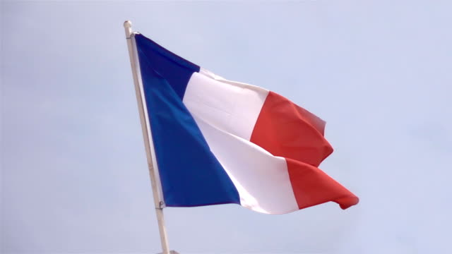 Two videos of french flag in real slow motion