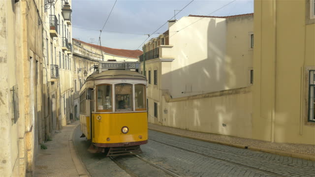 two videos of tram in 4k - portugal stock videos & royalty-free footage