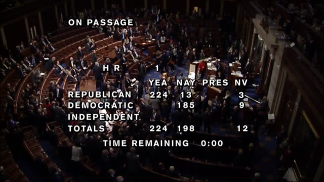 two weeks after its public release and four hours of debate over two days the house of representatives passed comprehensive tax reform by a roll call... - house of representatives stock videos & royalty-free footage