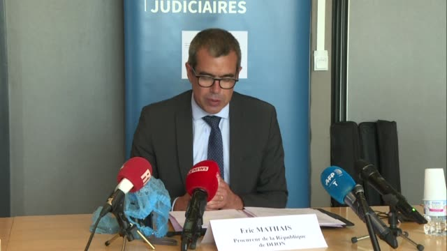 vídeos de stock e filmes b-roll de two weeks after the violence that took place from 12 to 15 june in the french city of dijon, public prosecutor eric mathais announced at a press... - 12 15 meses