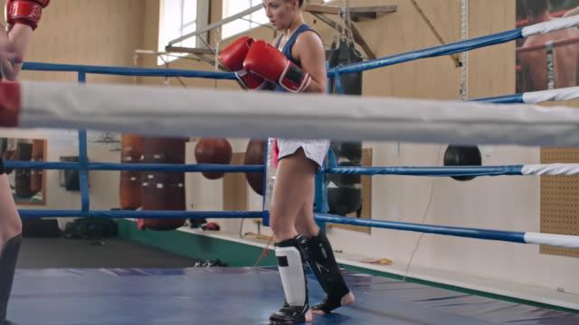 two women doing kickboxing training - boxing women's stock videos & royalty-free footage