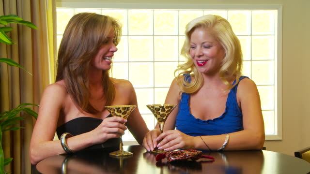 two women friends talking at the bar - ladies' night stock videos and b-roll footage
