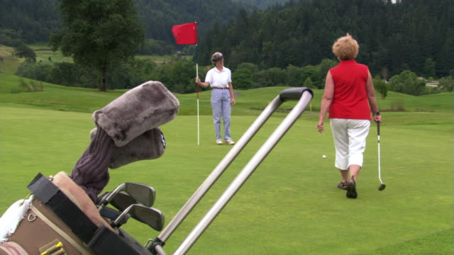 two women golfers - see other clips from this shoot 1271 stock videos & royalty-free footage