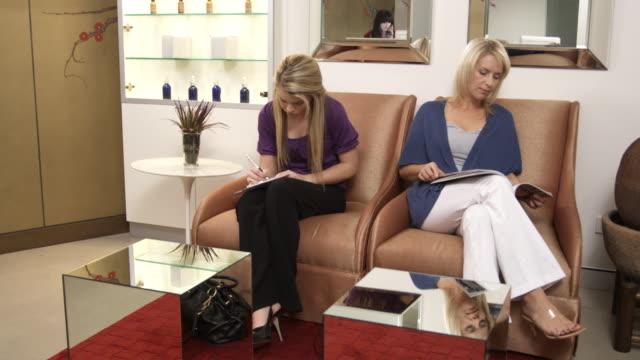 WS, Two women in clinic waiting room, Sydney, Australia