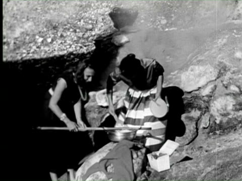 b/w montage two women making spaghetti over hot spring, naples, italy / audio - pasta stock videos & royalty-free footage