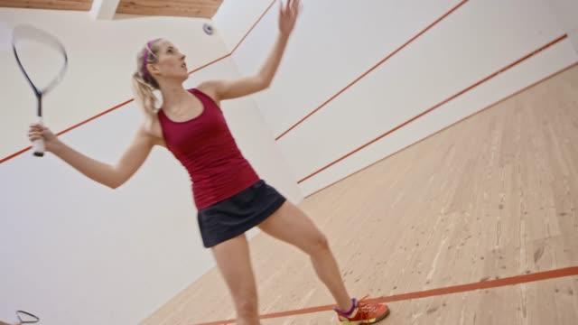 two women playing squash - squash sport stock videos & royalty-free footage
