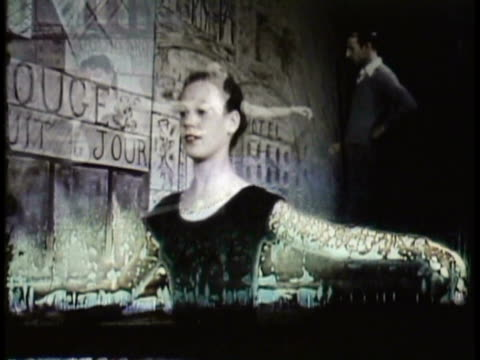 stockvideo's en b-roll-footage met 1955 montage ms cu two women practicing ballet with teacher standing by in dance studio / new zealand / audio - gympak
