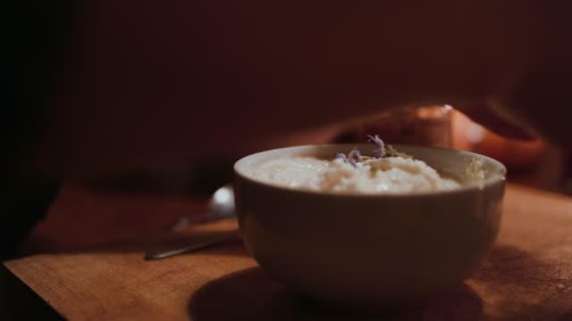 two women preparing desserts with fresh ingredients - yoghurt stock videos & royalty-free footage