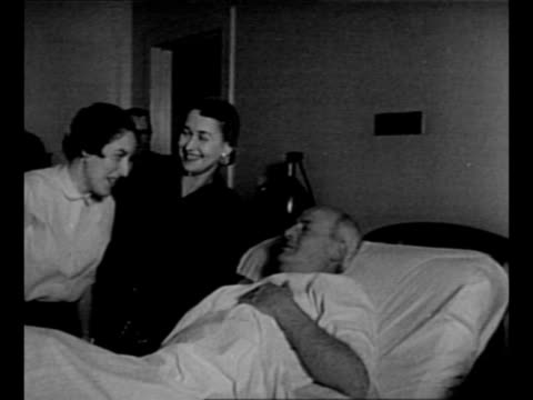 two women visit us rep george hyde fallon in his hospital bed after he was shot by puerto rican nationalists at the us capitol / journalists in... - puerto rican ethnicity stock videos & royalty-free footage