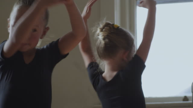 two young ballerinas dancing - small stock videos & royalty-free footage
