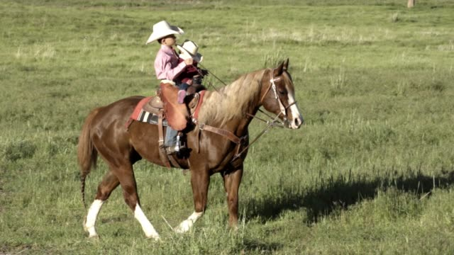two young boys riding a horse in a field - ranch family stock videos & royalty-free footage