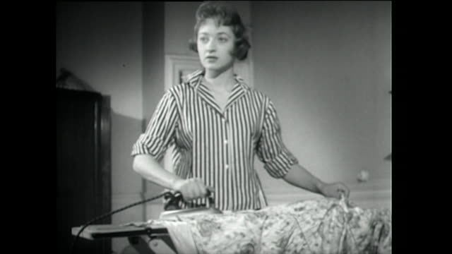 two young women do domestic chores; 1955 - 1955 stock videos & royalty-free footage