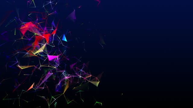 two-dimensional shape looping and changing colors in the form of interconnected lines - technology stock videos & royalty-free footage