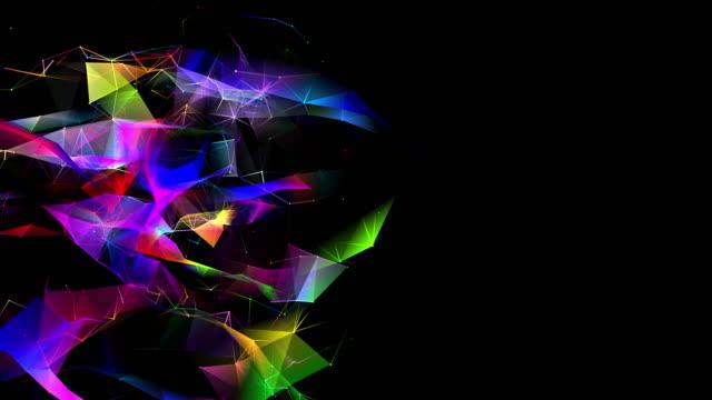 tvådimensionell form looping och ändra färger i form av sammankopplade linjer - tvådimensionell form bildbanksvideor och videomaterial från bakom kulisserna