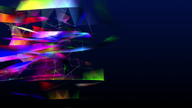 two-dimensional shape looping and changing colors in the form of interconnected lines - triangle shape stock videos & royalty-free footage