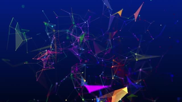 zweidimensionales shape looping und wechselnde farben in form von miteinander verbundenen linien - fleck stock-videos und b-roll-filmmaterial