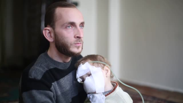 Twoyearold Qasim in Syria was left orphan after his mother died in an airstrike conducted by Bashar alAssad's regime in Hammuriyah district of...
