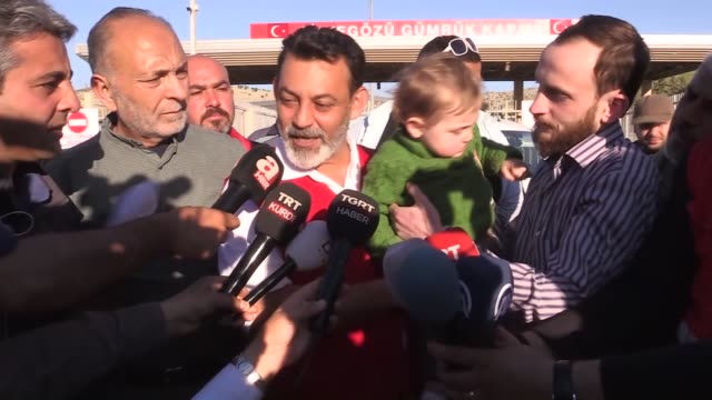 two-year-old syrian baby named kasim from eastern ghouta, whose face was ruined in an attack by assad regime forces, arrived in turkey on wednesday... - 2 3 years stock videos & royalty-free footage