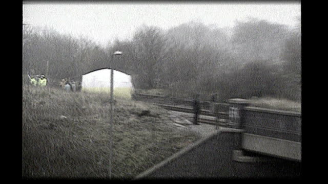 walton police forensic incident tent on railway line where body of 2yearold james bulger was found - merseyside stock videos and b-roll footage