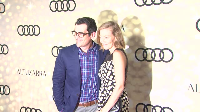 ty burrell and holly burrell at audi and altuzarra kick off emmy week 2013 ty burrell and holly burrell at audi and altuzarra at cecconi's restaurant... - ty burrell stock videos and b-roll footage