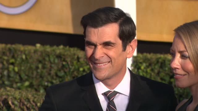 ty burrell at 19th annual screen actors guild awards arrivals 1/27/2013 in los angeles ca - ty burrell stock videos and b-roll footage