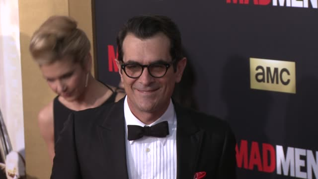 ty burrell at amc celebrates the final season of mad men with black red ball at dorothy chandler pavilion on march 25 2015 in los angeles california - ty burrell stock videos and b-roll footage
