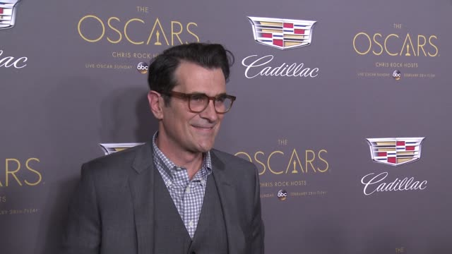 vídeos de stock, filmes e b-roll de ty burrell at cadillac hosts first ever preoscar event at chateau marmont on february 25 2016 in los angeles california - ty burrell