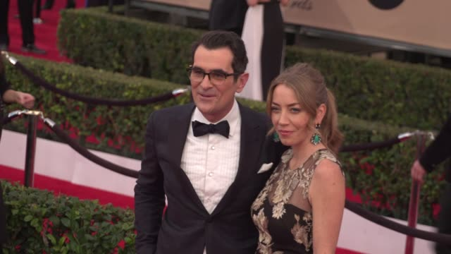 ty burrell at the 22nd annual screen actors guild awards arrivals at the shrine auditorium on january 30 2016 in los angeles california 4k - shrine auditorium stock videos & royalty-free footage