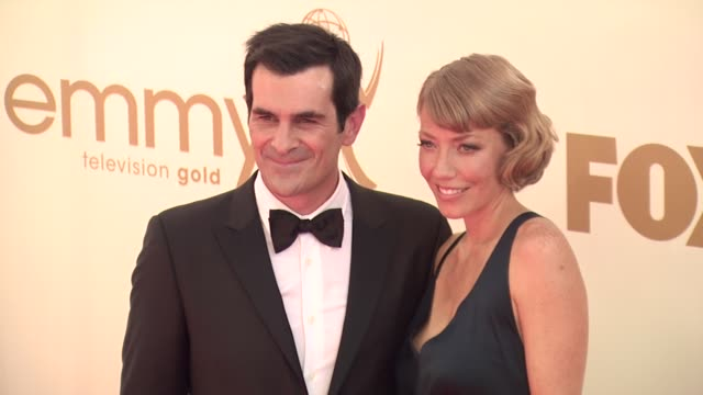 ty burrell at the 63rd primetime emmy awards arrivals part 1 at los angeles ca - 63rd annual primetime emmy awards stock videos and b-roll footage