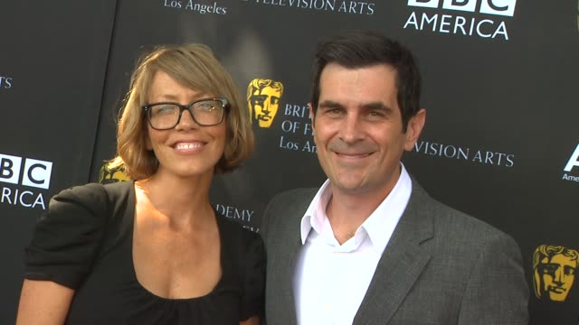 ty burrell at the 9th annual bafta los angeles tv tea party at beverly hills ca - ty burrell stock videos and b-roll footage