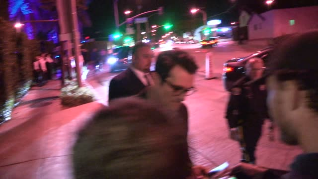 ty burrell greets fans before departing from audi celebrates emmys week 2014 in los angeles in celebrity sightings in los angeles - ty burrell stock videos and b-roll footage