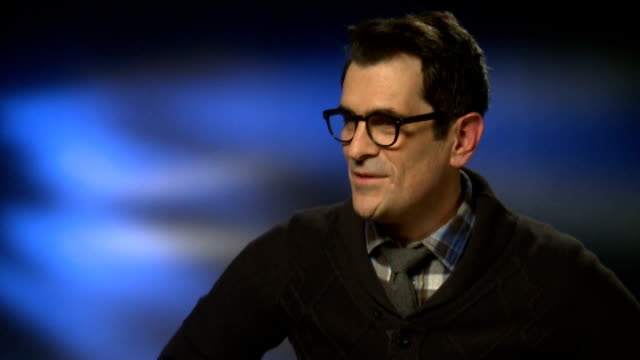 ty burrell interview about modern family england london int ty burrell interview sot - ty burrell stock videos and b-roll footage