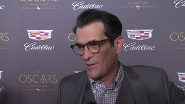 interview – ty burrell on oscar plans and hopeful winners at cadillac hosts first ever preoscar event at chateau marmont on february 25 2016 in los... - ty burrell stock videos and b-roll footage