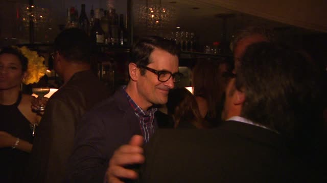 vídeos de stock, filmes e b-roll de atmosphere ty burrell partying and socializing at audi and altuzarra kick off emmy week 2013 atmosphere ty burrell partying at audi and at cecconi's... - ty burrell