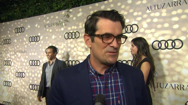 interview ty burrell where he was when he heard the big news at audi and altuzarra kick off emmy week 2013 interview ty burrell where he was when he... - ty burrell stock videos and b-roll footage
