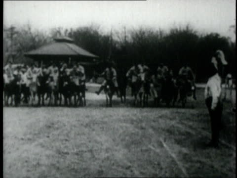 ty cobb and the detroit tigers riding donkeys at spring training - 1926 stock videos & royalty-free footage