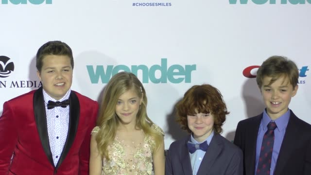 ty consiglio elle mckinnon kyle breitkopf james hughes at the lionsgate presents the world premiere of wonder on november 14 2017 in los angeles... - consiglio stock videos & royalty-free footage