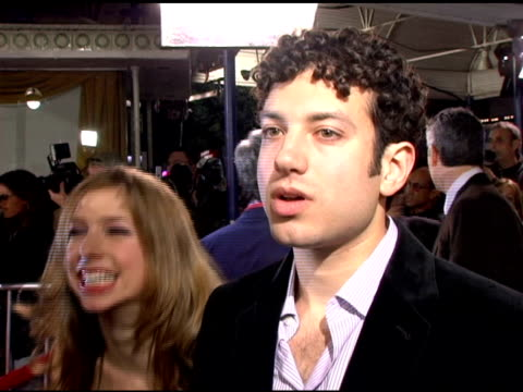 ty giordano on his character and how he feels about being a deaf actor at the 'the family stone' premiere at the mann village theatre in westwood... - hearing impairment stock videos & royalty-free footage