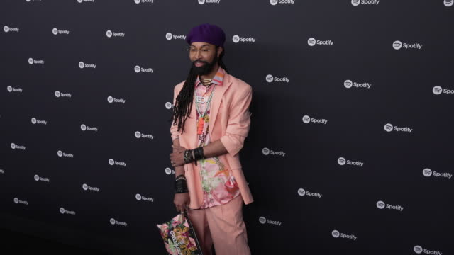 ty hunter at the spotify best new artist 2020 party at the lot studios on january 23, 2020 in los angeles, california. - spotify stock videos & royalty-free footage