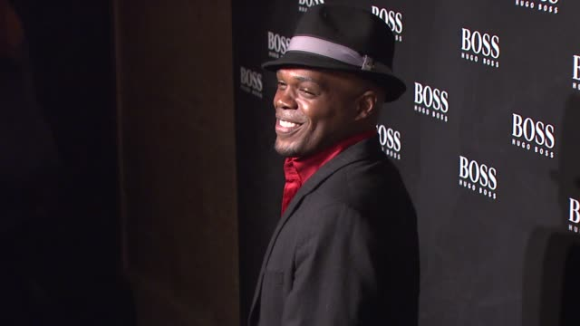 ty jones at the hugo boss hosts boss black fashion show at cunard building in new york, new york on october 17, 2007. - hugo boss stock videos & royalty-free footage