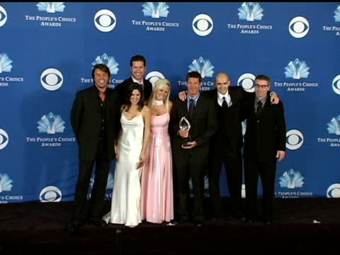Ty Pennington and the cast of 'Extreme Makeover Home Edition at the 2005 People's Choice Awards Photo Room at the Pasadena Civic Auditorium in...