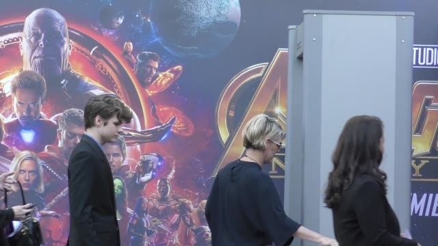 Ty Simpkins arrives at the premiere of Avengers Infinity War in Hollywood in Celebrity Sightings in Los Angeles