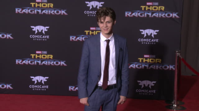 ty simpkins at the thor ragnarok premiere at the el capitan theatre on october 10 2017 in hollywood california - thor: ragnarok stock videos & royalty-free footage