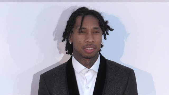 tyga and alec monopolyat the photocall red carpet of the 25th annual amfar gala cannes during the 2018 cannes film festival cannes france 17th may... - 71st international cannes film festival stock videos & royalty-free footage