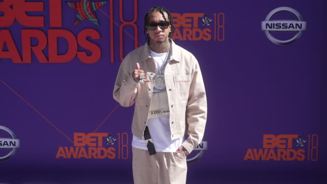 Tyga at the 2018 BET Awards at Microsoft Theater on June 24 2018 in Los Angeles California