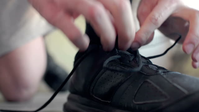 tying shoelace - shoelace stock videos and b-roll footage