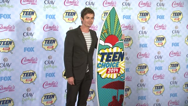 tyler blackburn at the teen choice awards 2014 at the shrine auditorium on august 10 2014 in los angeles california - shrine auditorium stock videos & royalty-free footage