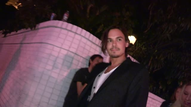 tyler blackburn & skyler shaye at chateau marmont in west hollywood, 09/06/12 - skyler shaye stock videos & royalty-free footage