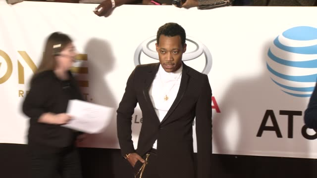 tyler james williams at the 49th naacp image awards at pasadena civic auditorium on january 15, 2018 in pasadena, california. - pasadena civic auditorium stock videos & royalty-free footage